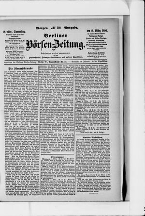 Berliner Börsen-Zeitung vom 05.03.1896