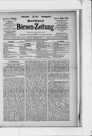 Berliner Börsen-Zeitung vom 06.03.1896