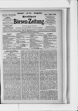 Berliner Börsen-Zeitung vom 07.03.1896
