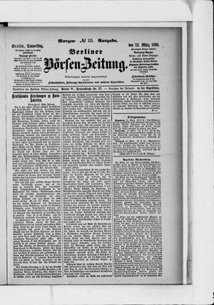 Berliner Börsen-Zeitung vom 12.03.1896