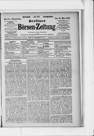 Berliner Börsen-Zeitung vom 19.03.1896