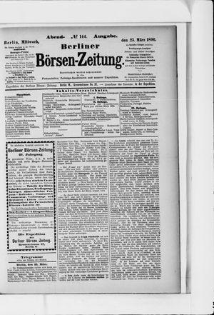 Berliner Börsen-Zeitung vom 25.03.1896