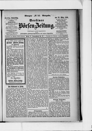 Berliner Börsen-Zeitung vom 26.03.1896