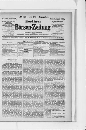 Berliner Börsen-Zeitung vom 15.04.1896