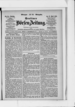 Berliner Börsen-Zeitung vom 19.04.1896