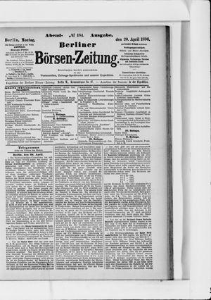 Berliner Börsen-Zeitung vom 20.04.1896