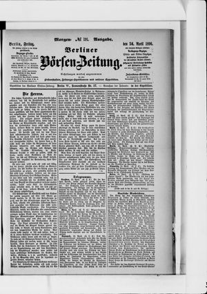 Berliner Börsen-Zeitung vom 24.04.1896