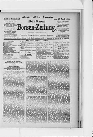 Berliner Börsen-Zeitung vom 25.04.1896