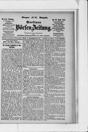 Berliner Börsen-Zeitung vom 26.04.1896