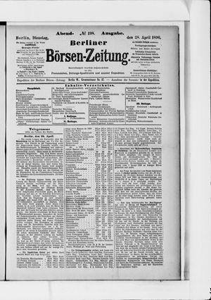Berliner Börsen-Zeitung vom 28.04.1896