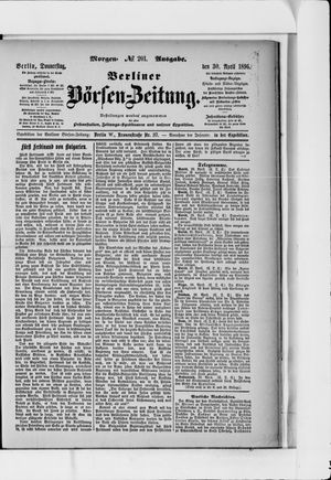 Berliner Börsen-Zeitung vom 30.04.1896
