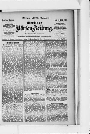 Berliner Börsen-Zeitung vom 05.05.1896