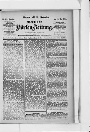 Berliner Börsen-Zeitung vom 10.05.1896