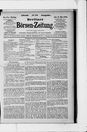 Berliner Börsen-Zeitung vom 11.05.1896