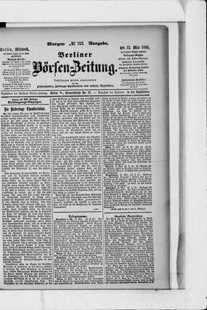 Berliner Börsen-Zeitung on May 13, 1896