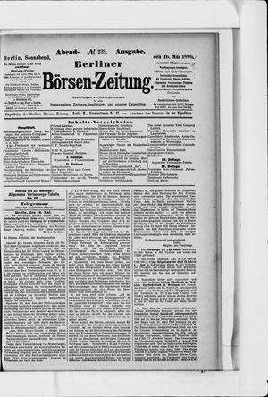 Berliner Börsen-Zeitung on May 16, 1896
