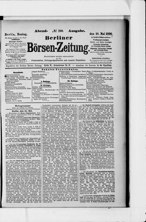 Berliner Börsen-Zeitung on May 18, 1896