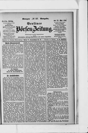 Berliner Börsen-Zeitung vom 22.05.1896