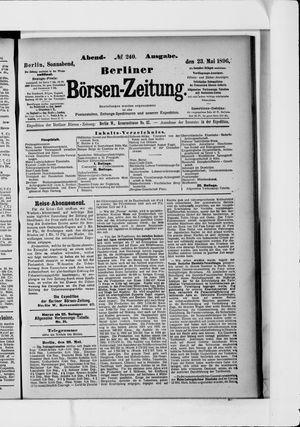 Berliner Börsen-Zeitung vom 23.05.1896