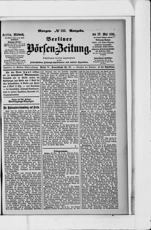 Berliner Börsen-Zeitung vom 27.05.1896