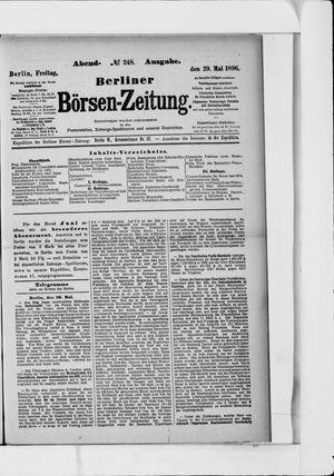 Berliner Börsen-Zeitung vom 29.05.1896