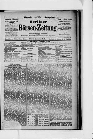 Berliner Börsen-Zeitung vom 01.06.1896