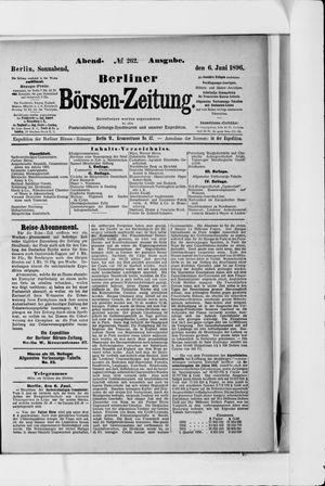 Berliner Börsen-Zeitung on Jun 6, 1896