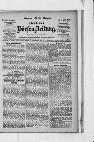 Berliner Börsen-Zeitung vom 07.06.1896