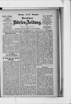 Berliner Börsen-Zeitung vom 09.06.1896