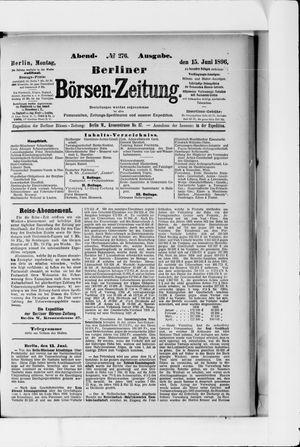 Berliner Börsen-Zeitung vom 15.06.1896