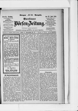 Berliner Börsen-Zeitung vom 23.06.1896
