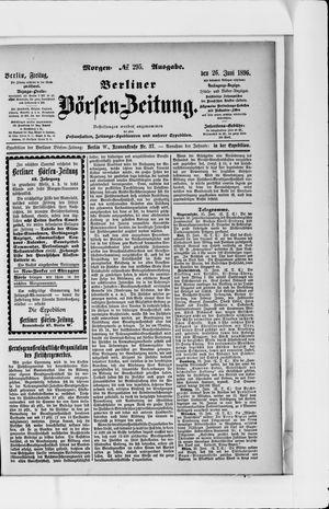 Berliner Börsen-Zeitung vom 26.06.1896
