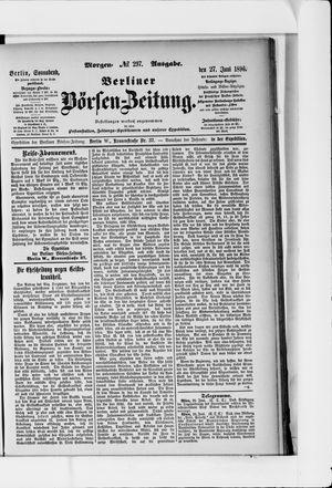 Berliner Börsen-Zeitung vom 27.06.1896