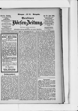Berliner Börsen-Zeitung vom 30.06.1896