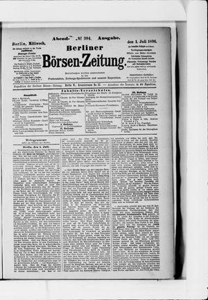 Berliner Börsen-Zeitung vom 01.07.1896