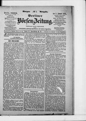 Berliner Börsen-Zeitung vom 01.01.1898