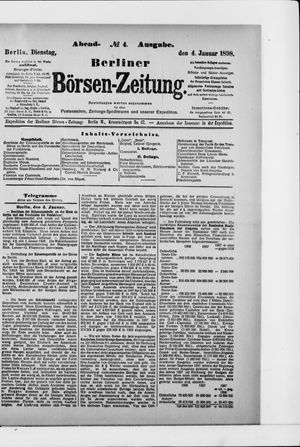 Berliner Börsen-Zeitung vom 04.01.1898