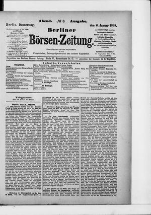 Berliner Börsen-Zeitung vom 06.01.1898