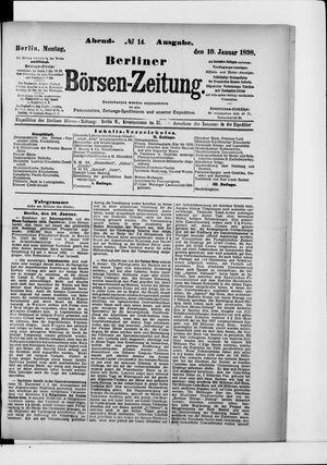 Berliner Börsen-Zeitung vom 10.01.1898