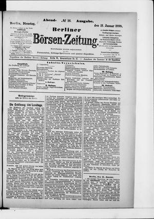 Berliner Börsen-Zeitung vom 11.01.1898