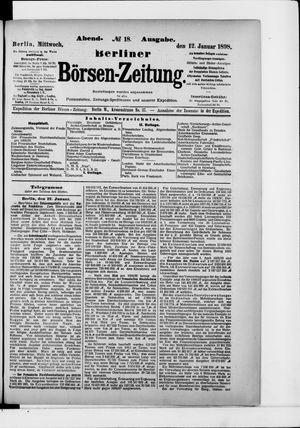 Berliner Börsen-Zeitung vom 12.01.1898