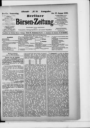 Berliner Börsen-Zeitung vom 13.01.1898