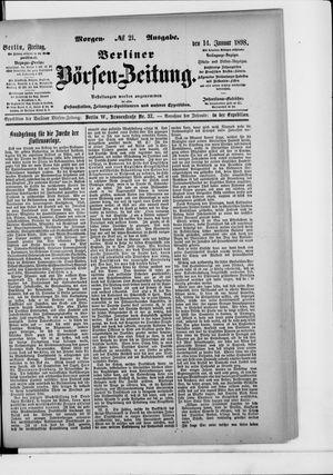 Berliner Börsen-Zeitung vom 14.01.1898