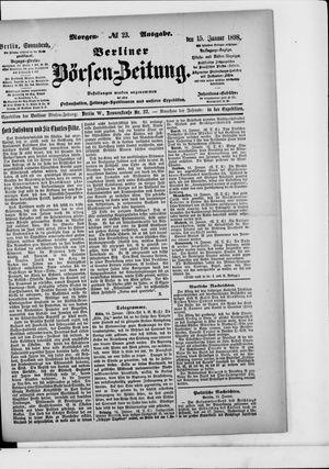 Berliner Börsen-Zeitung vom 15.01.1898