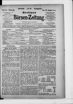 Berliner Börsen-Zeitung vom 19.01.1898
