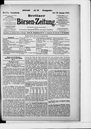 Berliner Börsen-Zeitung vom 22.01.1898