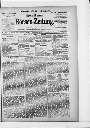 Berliner Börsen-Zeitung vom 26.01.1898