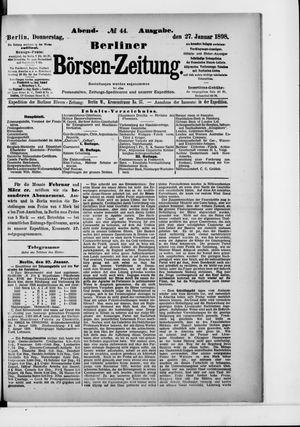 Berliner Börsen-Zeitung vom 27.01.1898