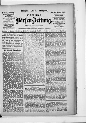 Berliner Börsen-Zeitung vom 30.01.1898