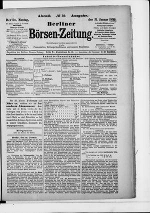 Berliner Börsen-Zeitung vom 31.01.1898